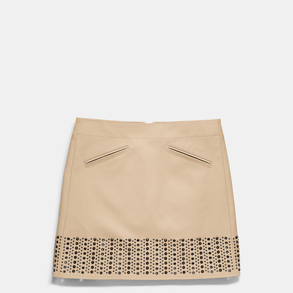 COACH grommet cotton bandeau skirt - Polished grommets and domed studs add urban attitude to an...