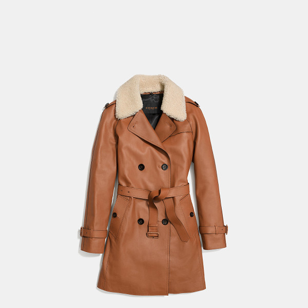 COACH icon leather trench - Tailored in exceptionally fine Italian leather with a...