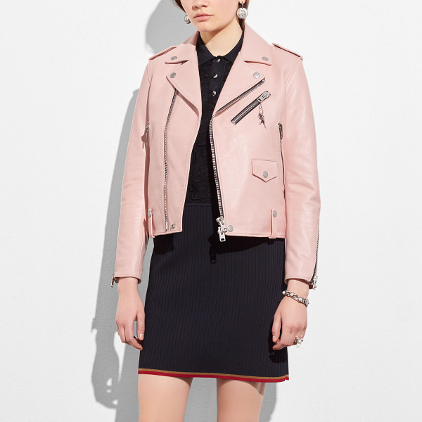 COACH icon moto - A favorite of bikers, misfits and rebels, the moto jacket...