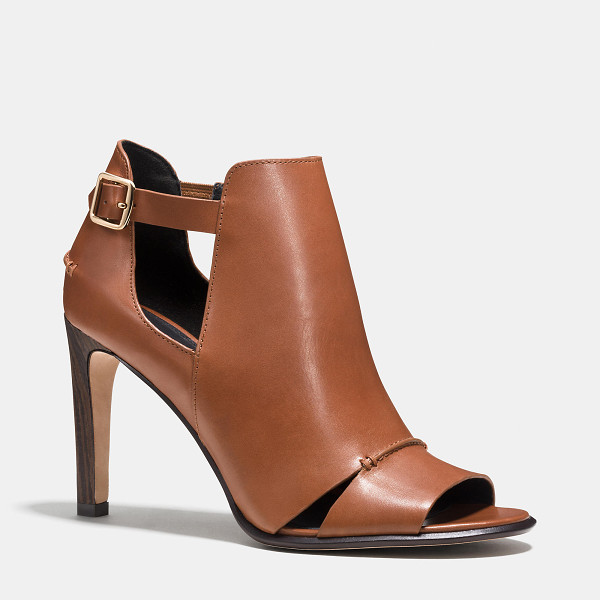 COACH idena bootie - Dramatic yet refined, this striking silhouette combines the...