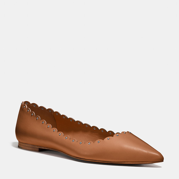 COACH jill flat - Sharp pointed toes and delicate scalloped edges amp up...