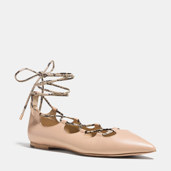 COACH justine flat - The Coach version of spring's must-have ghillie is...