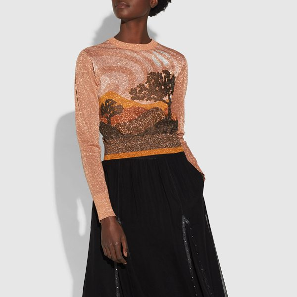 COACH landscape crewneck sweater - An ode to the great American landscape, this fitted...