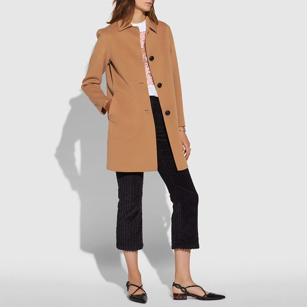 COACH luxury wool coat - This lightweight coat is crafted of the finest, warmest...