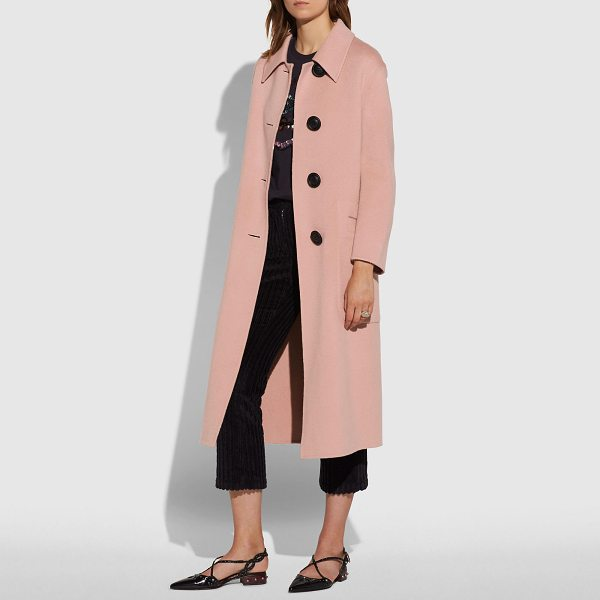 COACH luxury wool trench - This lightweight coat is crafted of the finest, warmest...