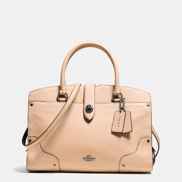 COACH mercer satchel 30 - Luxury and utility meet a new downtown attitude in this...