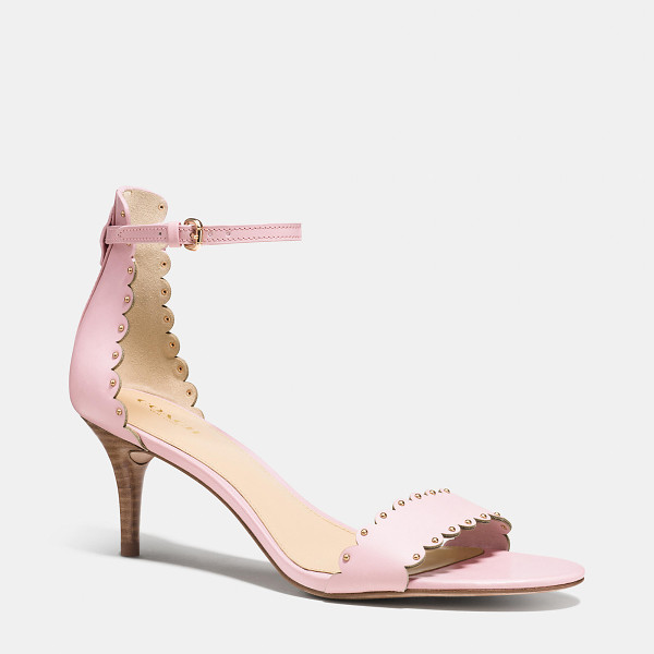 COACH monica heel - Delicately scalloped edges and a sweet kitten heel meet the...