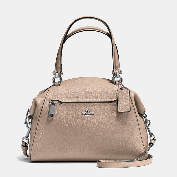 COACH prairie satchel - Updated in rich shades of polished pebble leather, this...