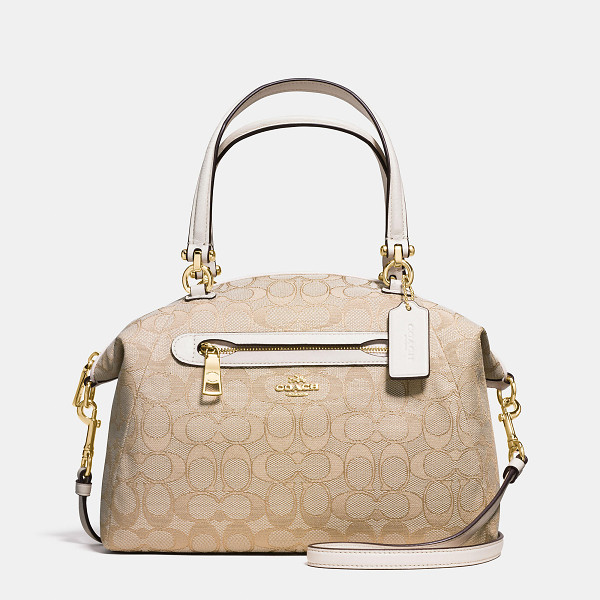 COACH prairie satchel - Updated in signature coated canvas, this gracefully curved