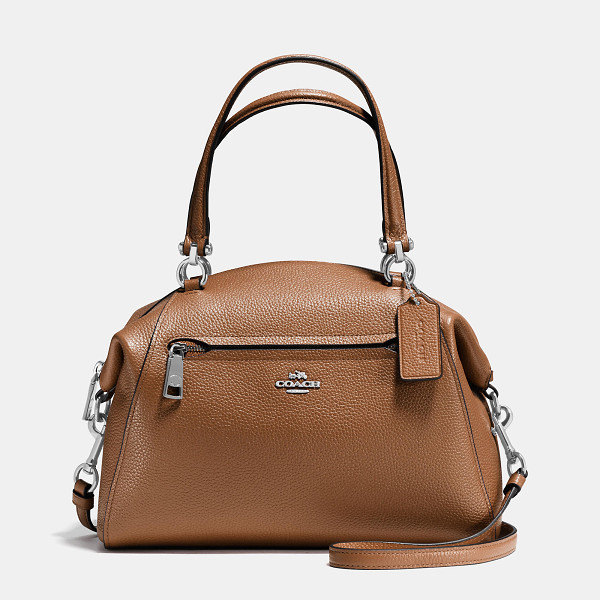 COACH prairie satchel - Updated in rich shades of polished pebble leather, this