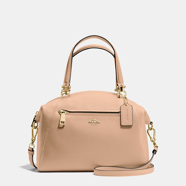COACH prairie satchel - Crafted in soft, lightweight pebbled leather with a bit of...
