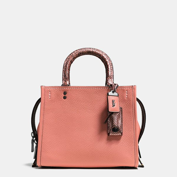 COACH rogue 25 with colorblock snakeskin detail - Inspired by free spirits, rebels and dreamers, the aptly...
