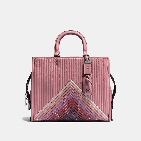 COACH rogue with colorblock quilting and rivets - Inspired by free spirits, rebels and dreamers, the aptly...