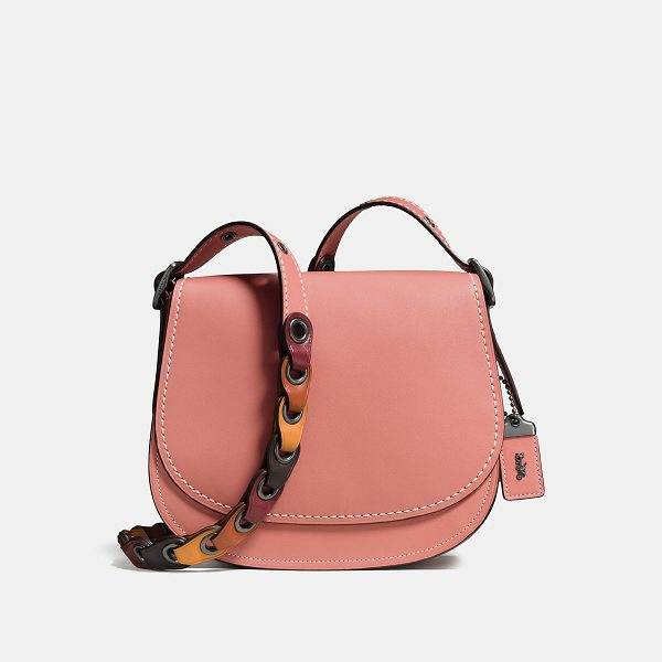 COACH saddle 23 with colorblock link strap - Based on an archival Coach design from the 1970s, the...