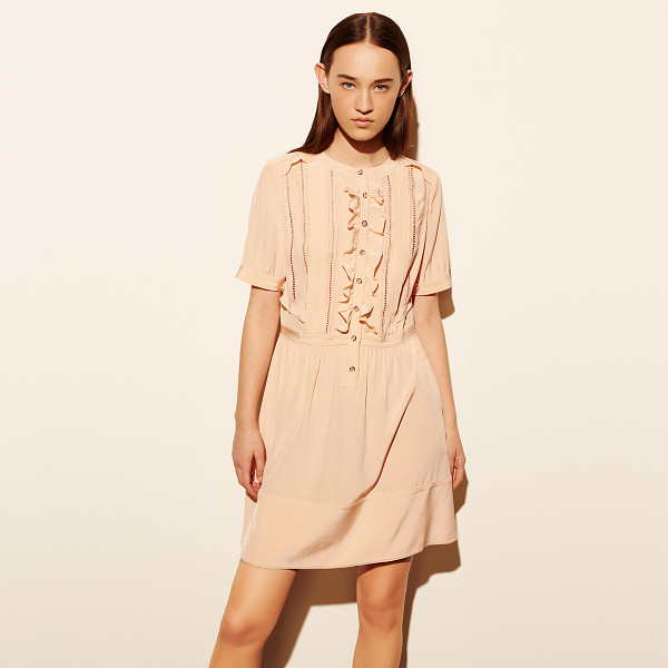 COACH silk ruffle dress - Delicate gathering, pleating and openwork in the tradition...