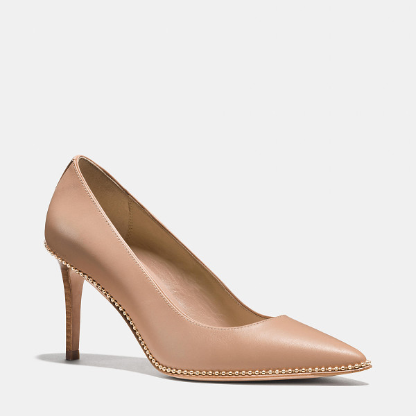 COACH smith beadchain heel - Simply elegant and perfectly pointed, this pump is at once