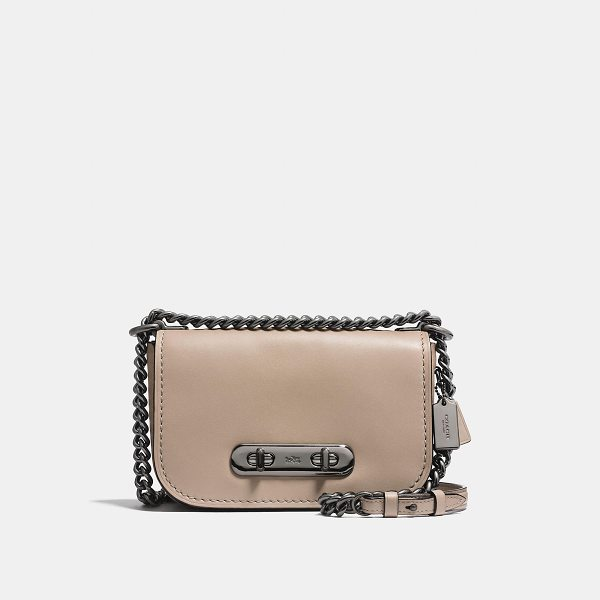 "COACH swagger shoulder bag 20 - Double-turnlock hardware adds ""swagger"" to this signature..."