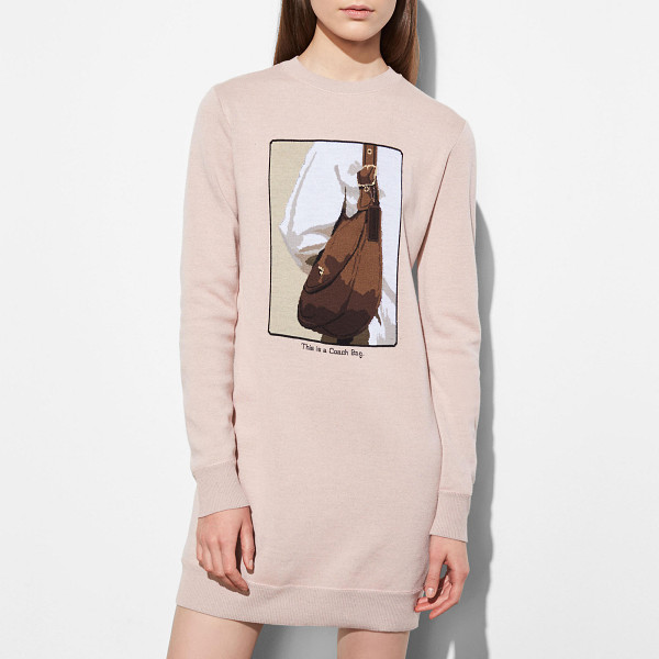 COACH sweater dress with archive intarsia - Introducing a limited-edition collection created in...