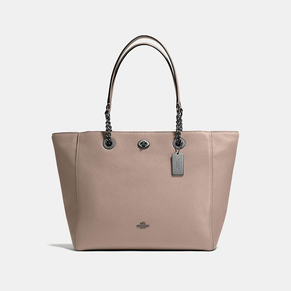 COACH turnlock chain tote - The customer-favorite turnlock tote is updated with...