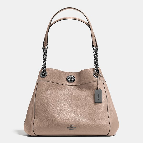 COACH turnlock edie shoulder bag - Edie combines downtown ease with utility. Crafted in...