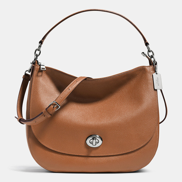COACH turnlock hobo - The new and versatile Turnlock Hobo in plump pebble leather...
