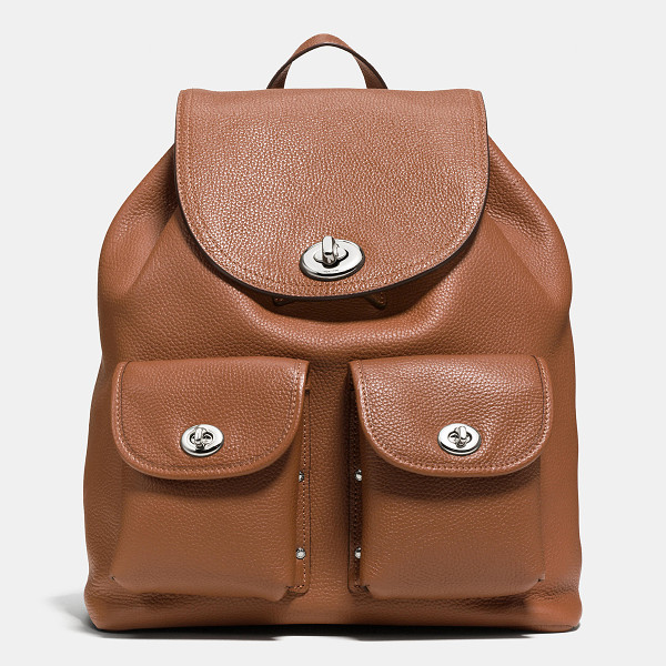 COACH turnlock rucksack - Luxe craftsmanship meets utility in a soft, slouchy design...