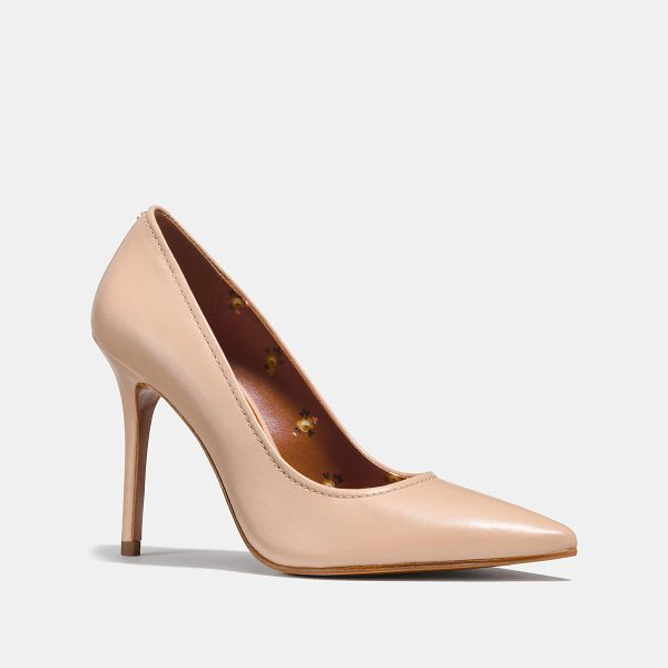 COACH waverly pump - Crafted in smooth leather, this versatile stiletto is...