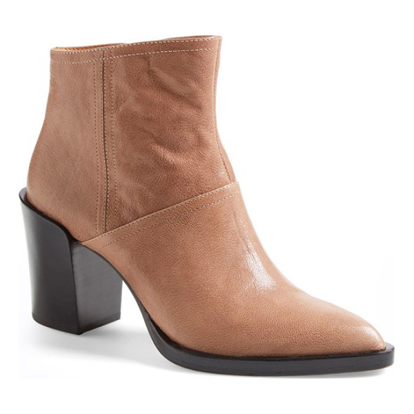 10 CROSBY DEREK LAM raine pointy toe bootie - A contemporary, clean-lined bootie with a Western-style...