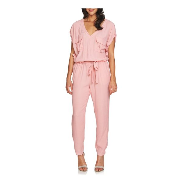 1.STATE blouson jumpsuit - Chest flap pockets and drawstring ties update this...