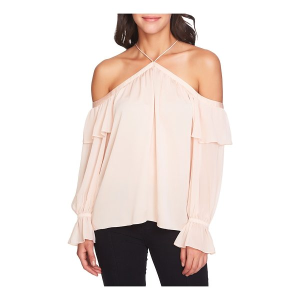 1.STATE cold shoulder halter top - Show off your shoulders at your next party or evening out...
