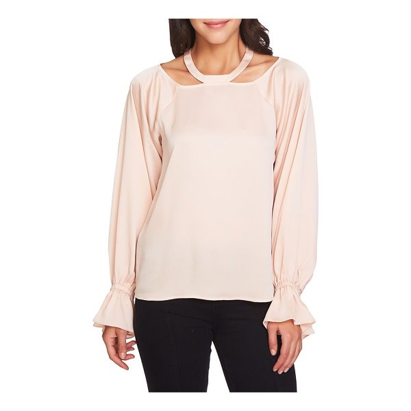 1.STATE cold shoulder satin blouse - A new take on the season's shoulder-baring trend, this...