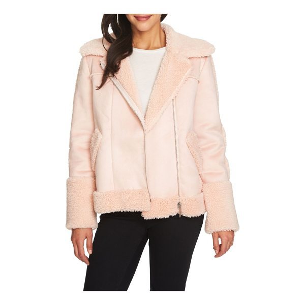 1.STATE faux shearling moto jacket - Explore the softer side of the moto jacket with this cozy...