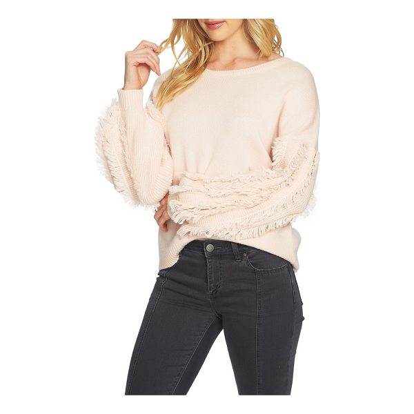 1.STATE fringe sleeve sweater - Rows of fringe further the statement-making impact of the...