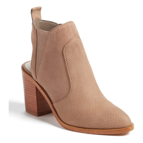 1.STATE leban cutout bootie - An open counter and perforated leather construction add to...