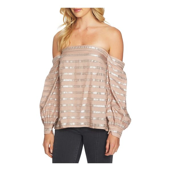 1.STATE off the shoulder top - Business-like cuffs cinch the billowy sleeves draping off...
