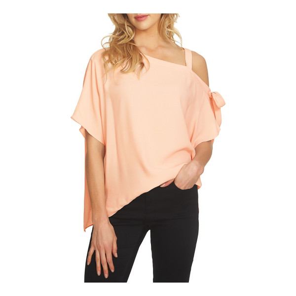 1.STATE one-shoulder tie sleeve blouse - A one-shoulder neckline adds of-the-moment style to a...