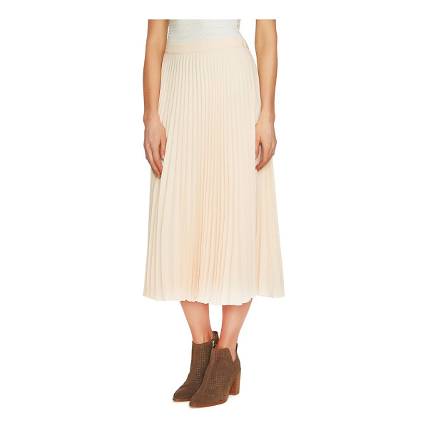 1.STATE pleated midi skirt - Crisp knife pleats soften and flare near the hem, adding...