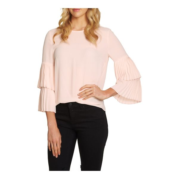 1.STATE pleated sleeve blouse - Pretty, pleated tiers elevate this otherwise simply styled...