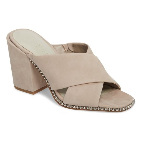 1.STATE ricard sandal - Gleaming rounded studs outline the silhouette of a chic...