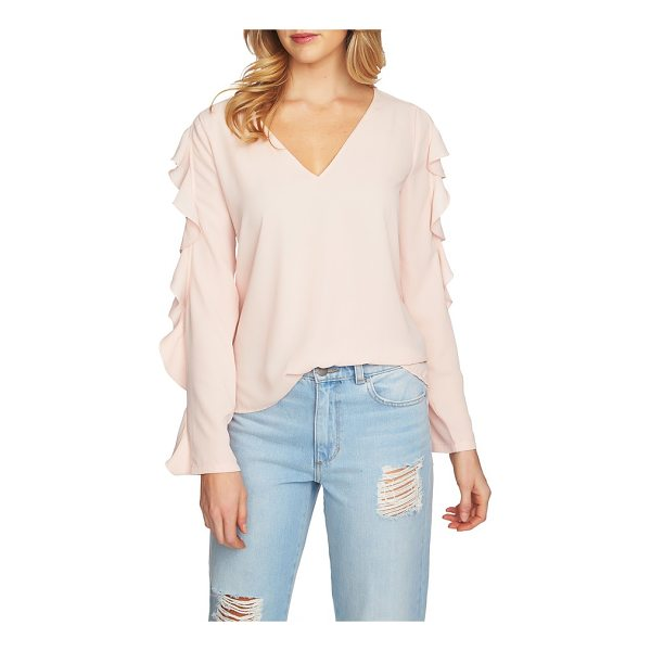 1.STATE ruffle cold shoulder top - Pretty ruffles edge the cutouts on an easy-fitting top...