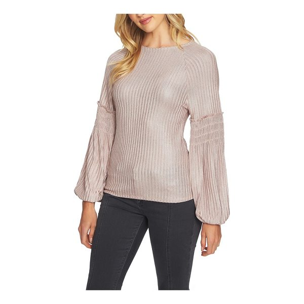 1.STATE smocked sleeve top - When the temps start to drop, take your sweater game up a...