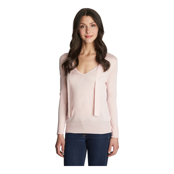 1.STATE tie neck sweater - A sweet and simple V-neck sweater is elevated with...