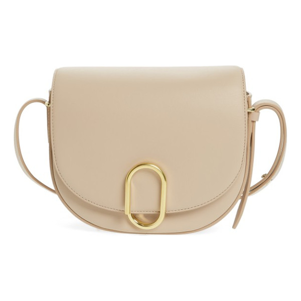 3.1 PHILLIP LIM alix leather saddle bag - A modern, clean-lined crossbody bag takes its cues from...