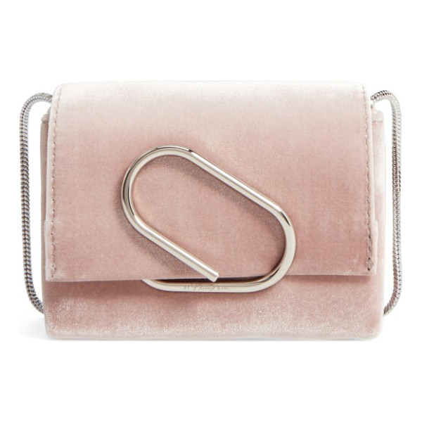 3.1 PHILLIP LIM alix velvet clutch - Keep your must-haves close at hand with this velvet clutch...
