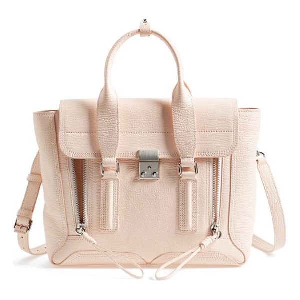 3.1 PHILLIP LIM Medium pashli leather satchel - Exposed zip-gussets and brushed hardware complement a...