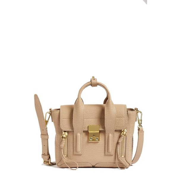 3.1 PHILLIP LIM mini pashli leather satchel - The signature, sized-down Pashli satchel gets reinvented...