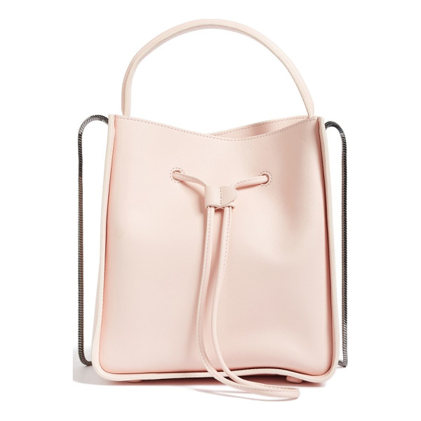 3.1 PHILLIP LIM mini soleil leather bucket bag - Clean, minimalist lines and an optional snake-chain strap...