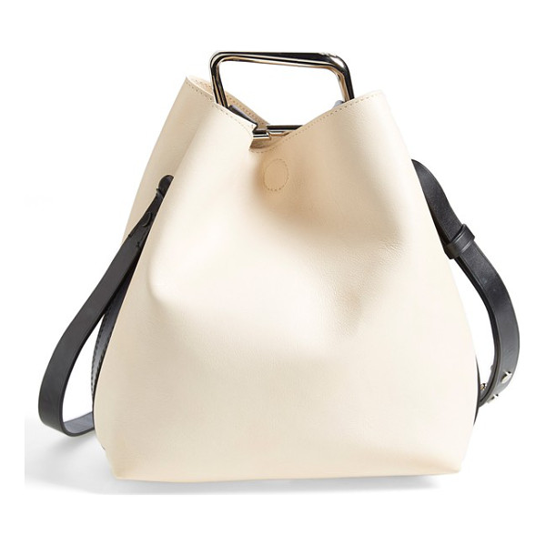 3.1 PHILLIP LIM Quill mini bucket bag - A scintillating metal clip cinches the elevated style on a...