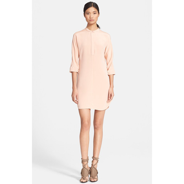 3.1 PHILLIP LIM silk shirtdress with judo stitch detail - Tonal topstitching inspired by the judogi graces the slim...