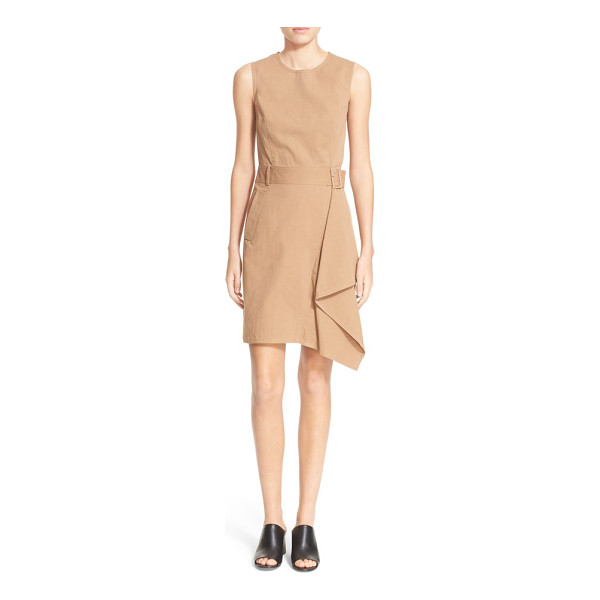 3.1 PHILLIP LIM sleeveless dress with trench detail - An asymmetrical panel cascades gracefully down the skirt of...
